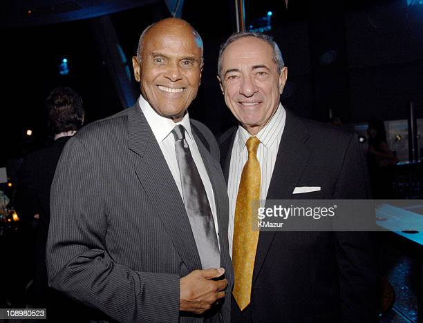 Harry Belafonte and Mario Cuomo during Tony Bennett's 80th Birthday Party Inside in New York City New York United States