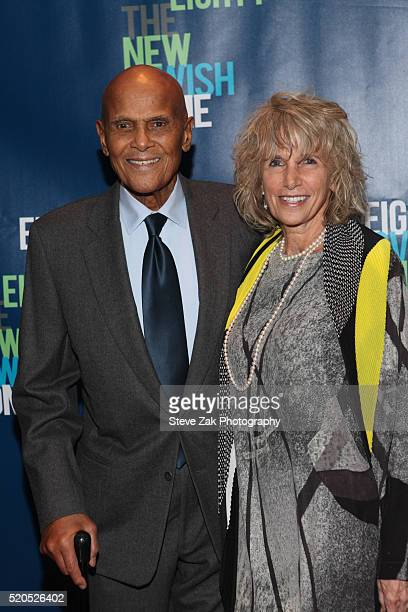 Harry Belafonte and Pamela Belafonte attend Eight Over Eighty 2016 Gala at Mandarin Oriental New York on April 11 2016 in New York City