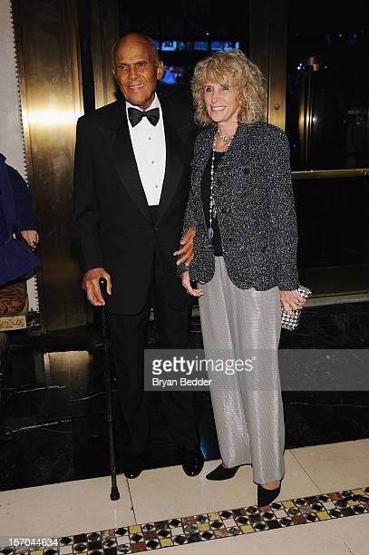Harry Belafonte and Pamela Belafonte attend the Unicef SnowFlake Ball at Cipriani 42nd Street on November 27 2012 in New York City