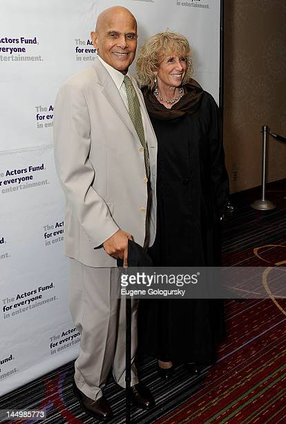 Harry Belafonte and Pamela Belafonte attends The Actors Fund Gala 2012 at the Marriott Marquis Hotel on May 21 2012 in New York City