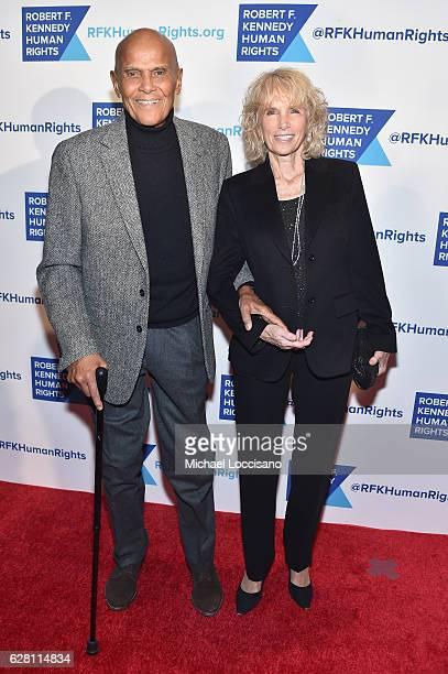 Harry Belafonte and Pamela Frank attend RFK Human Rights' Ripple of Hope Awards Honoring VP Joe Biden, Howard Schultz & Scott Minerd in New York City.