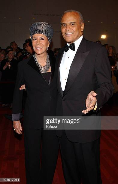 Harry Belafonte and wife Jeanette Belafonte arrive On Stage at the Kennedy Center The Mark Twain Prize will air November 21 at 9 pm on PBS