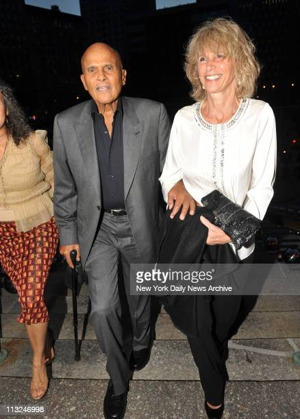 Harry Belafonte and wife Pamela at the Vanity Fair party at the Manhattan Supremem Court building