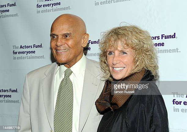 Harry Belafonte and wife Pamela Belafonte attend The Actors Fund Gala 2012 at the Marriott Marquis Hotel on May 21 2012 in New York City