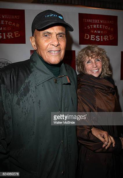 Harry Belafonte and wife Pamela Frank attending the Broadway Opening Night Performance of 'A Streetcar Named Desire' at the Broadhurst Theatre on...