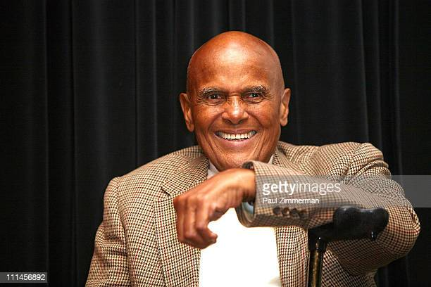 "Harry Belafonte attends the ""African Rhythmus"" panel discussion at Museum Of Arts And Design on April 2, 2011 in New York City."