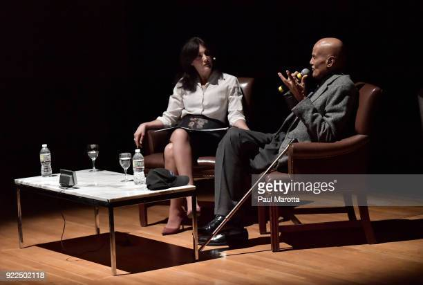 Harry Belafonte is interviewed by Joyce Kulhawik at the Museum of Fine Arts Boston as part of the Ruth and Carl J Shapiro Celebrity Lectures Series...