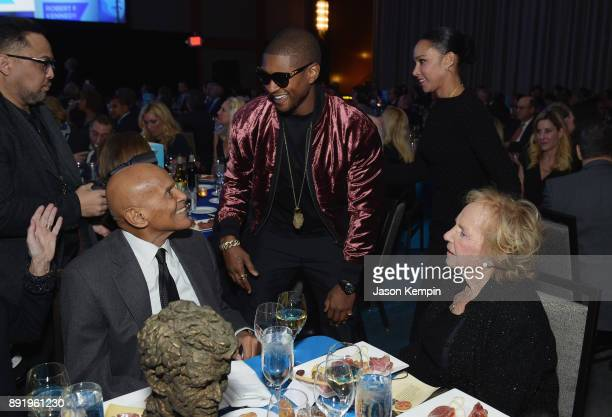 Harry Belafonte Usher Raymond and Ethel Kennedy attend Robert F Kennedy Human Rights Hosts Annual Ripple Of Hope Awards Dinner on December 13 2017 in...