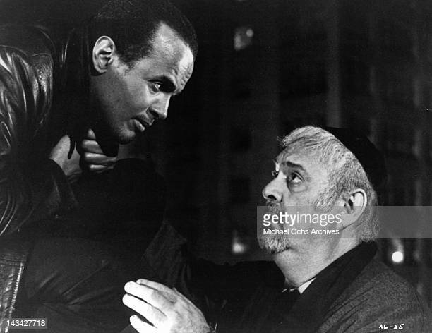 Harry Belafonte who claims that he is a Jewish Angel and Zero Mostel as a tailor with many troubles in a scene from the film 'The Angel Levine' 1970