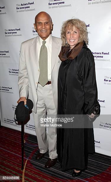 Harry Belafonte wife Pamela attending the Actors Fund Gala honoring Harry Belafonte Jerry Stiller Anne Meara David Steiner at the Mariott Marquis...