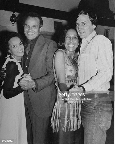 Harry Belafonte with daughter Shari and Julie Belafonte with Robert Harper