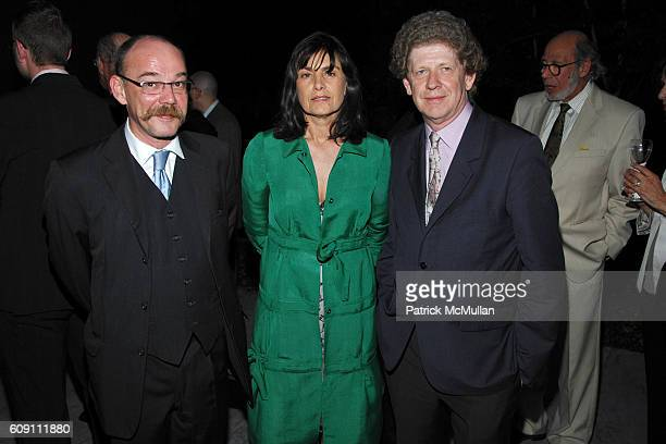 Harry Bellet AnneMarie Corre and Bernard Genies attend Dinner for RICHARD SERRA 'SCULPTURE FORTY YEARS' Hosted by MoMA and LVMH at The Museum of...