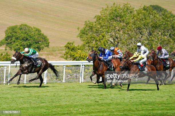 Harry Bentley riding Prompting win The Unibet Golden Mile Handicap at Goodwood Racecourse on July 31 2020 in Chichester England Owners are allowed to...