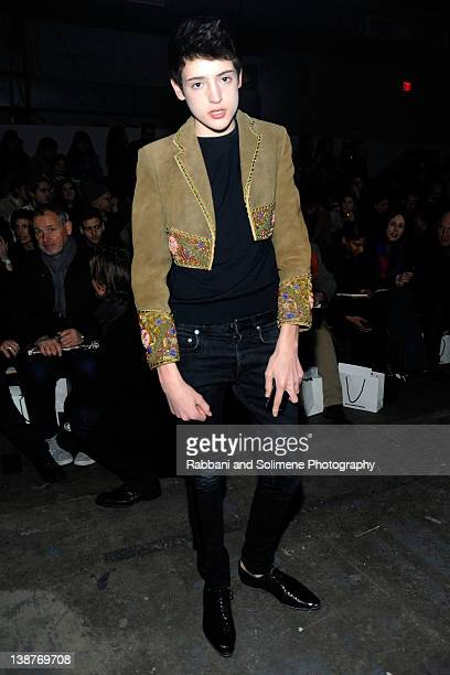 Harry Brant attends the Alexander Wang Fall 2012 fashion show during MercedesBenz Fashion Week at Pier 94 on February 11 2012 in New York City