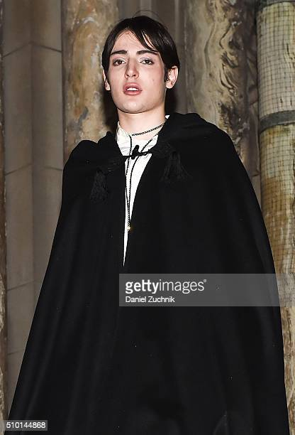 Harry Brant is seen outside the Alexander Wang show during New York Fashion Week: Women's Fall/Winter 2016 on February 13, 2016 in New York City.