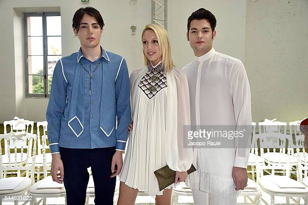 Harry Brant Maria Olympia of Grace and Peter Brant attend the Giambattista Valli Haute Couture Fall/Winter 20162017 show as part of Paris Fashion...