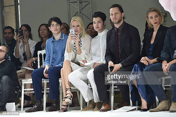 Harry Brant Maria Olympia of Greece Peter Brant and Derek Blasberg attend the Giambattista Valli Haute Couture Fall/Winter 20162017 show as part of...