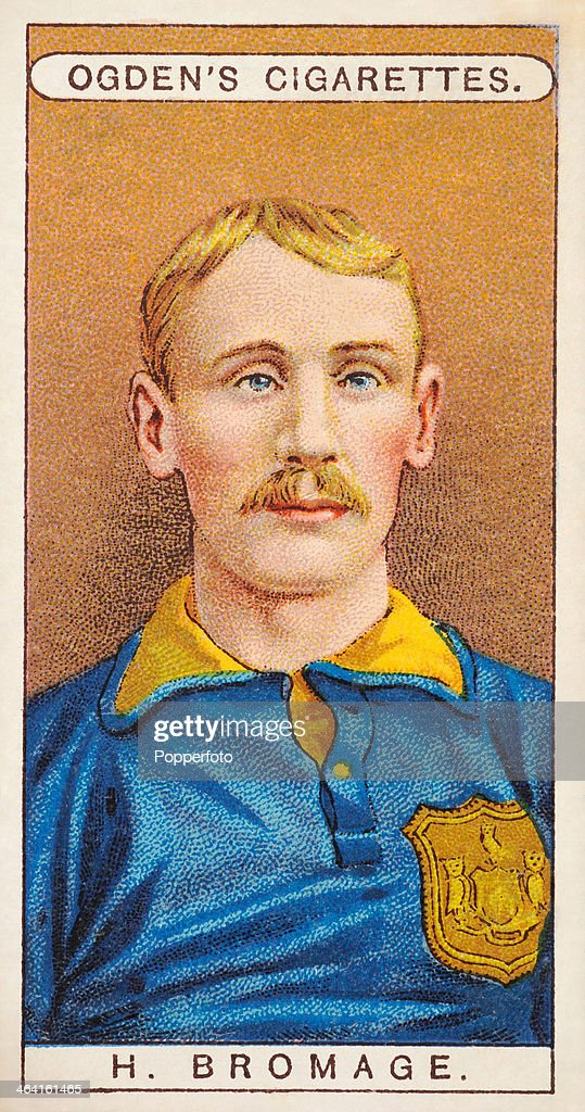Harry Bromage, Leeds City FC, featured on a vintage cigarette card published in London, circa 1908.