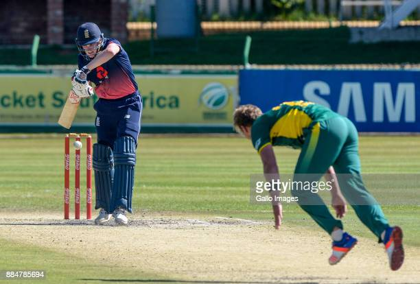 Harry Brook of England batting during the U/19 Tri Series match between South Africa and England at Senwes Park on December 03 2017 in Potchefstroom...