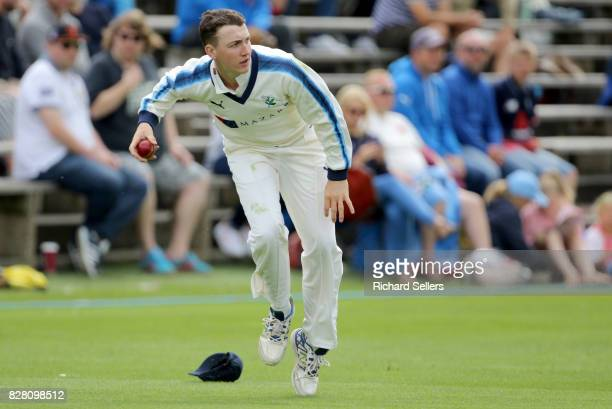 Harry Brook of Yorkshire fielding during the Specsavers County Championship Division One between Yorkshire and Essex at North Marine Road on August 7...