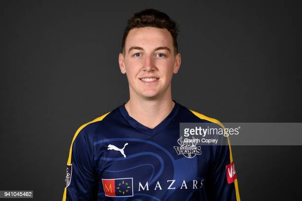 Harry Brook of Yorkshire poses for a portrait during the Yorkshire CCC Media Day at Headingley on April 2 2018 in Leeds England