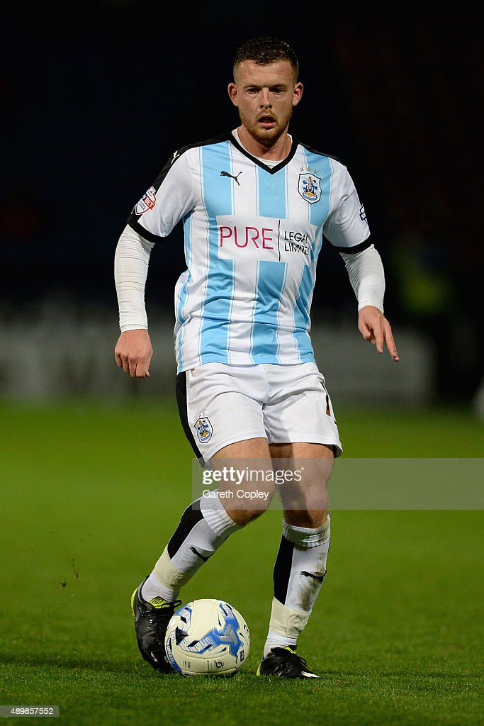 Harry Bunn of Huddersfield Town during the Sky Bet Championship match between Huddersfield Town and Nottingham Forest at John Smiths Stadium on September 24, 2015 in Huddersfield, England.
