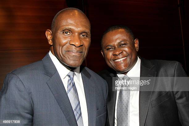 Harry Carson and Dr Bennet Omalu attend the 2015 Health Hero Awards hosted by WebMD on November 5 2015 in New York City