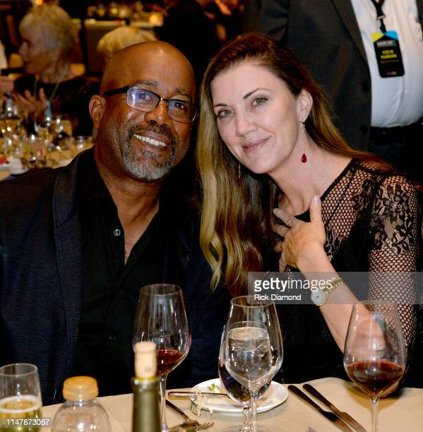 Harry Chapin Memorial Humanitarian Award winner Darius Rucker and Beth Leonard attend the Music Business Association Awards and Hall of Fame Dinner...