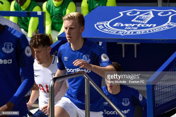 Harry Charsley of Everton during the Premier League 2 match between Everton U23 and Tottenham Hotspur U23 at Goodison Park on September 10 2017 in...