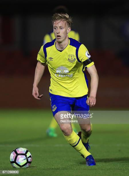 Harry Charsley of Everton in action during the Premier League 2 match between Chelsea and Everton on April 21 2017 in Aldershot England
