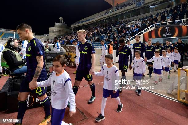 Harry Charsley of Everton makes his first team debut during the UEFA Europa League Group E match between Apollon Limassol and Everton at GSP Stadium...