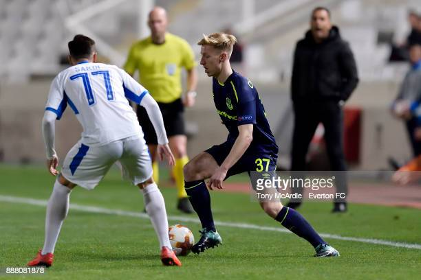 Harry Charsley of Everton on the ball during the UEFA Europa League Group E match between Apollon Limassol and Everton at GSP Stadium on December 7...