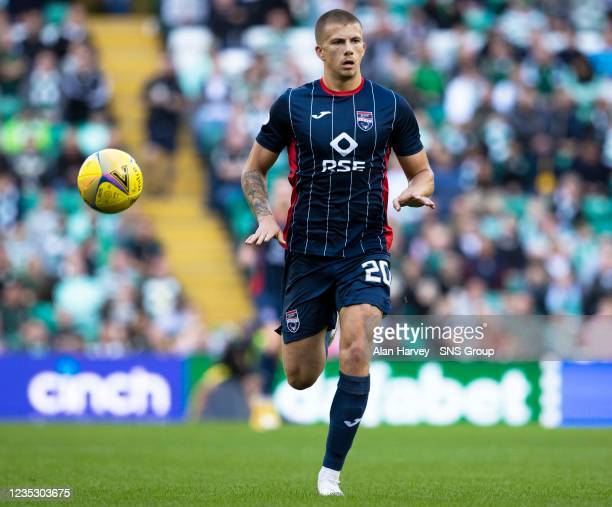 Harry Clarke in action for Ross Countys during a cinch Premiership match between Celtic and Ross County at Celtic Park on September 11 in Glasgow,...