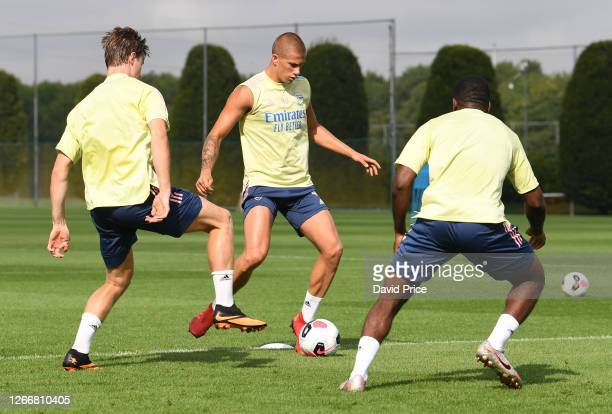Harry Clarke of Arsenal during the Arsenal U23 training session at London Colney on August 17, 2020 in St Albans, England.