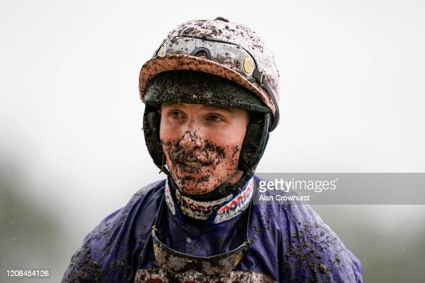 Harry Cobden poses at Ascot Racecourse on February 15 2020 in Ascot England