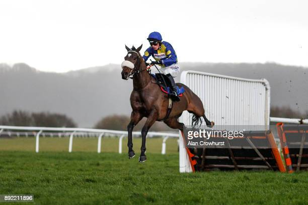 Harry Cobden riding Brahms De Clermont clear the last to win The Kings College Taunton Novices Hurdle Race at Taunton racecourse on December 14 2017...