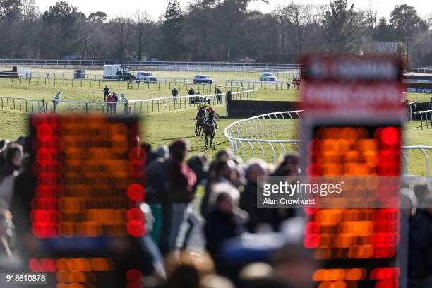Harry Cobden riding Bramble Brook clear the last to win The Happy Birthday Kate Digweed Love Gordon Racing Handicap Chase at Fontwell Park racecourse...
