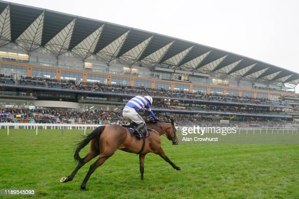 Harry Cobden riding Cyrname clear the last to win The Christy 1965 Chase at Ascot Racecourse on November 23, 2019 in Ascot, England.