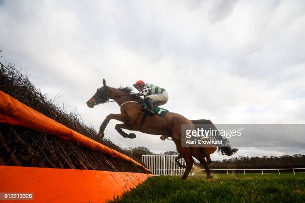 Harry Cobden riding General Girling clear the last to win The Daily Racing Specials At 188Bet Handicap Chase at Lingfield Park racecourse on January...