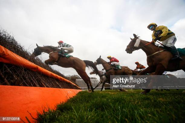 Harry Cobden riding General Girling on their way to winning The Daily Racing Specials At 188Bet Handicap Chase at Lingfield Park racecourse on...