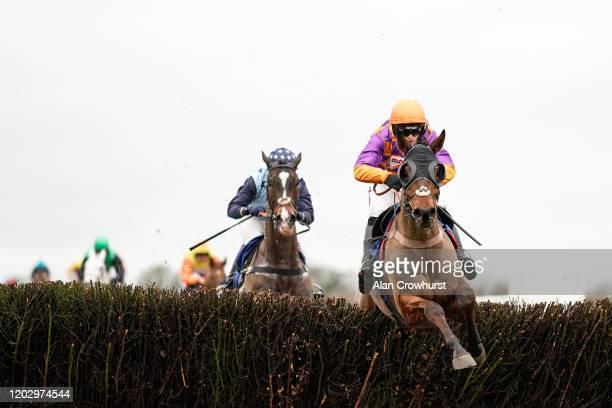 Harry Cobden riding Worthy Farm clear the last to win The Unique Financial Planning Handicap Chase at Wincanton Racecourse on January 30, 2020 in...
