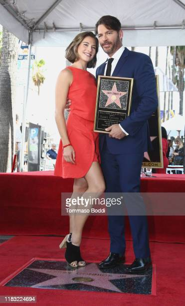 Harry Connick Jr and Charlotte Connick attend a Ceremony Honoring Harry Connick Jr With Star On Hollywood Walk Of Fame on October 24 2019 in...