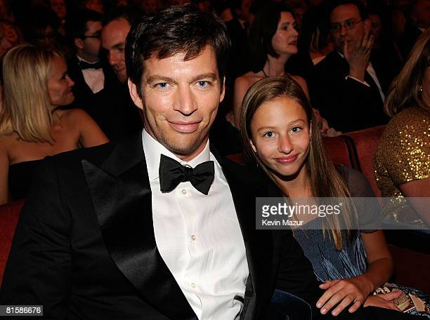 Harry Connick Jr and daughter Georgia pose backstage during the 62nd Annual Tony Awards at Radio City Music Hall on June 15 2008 in New York City