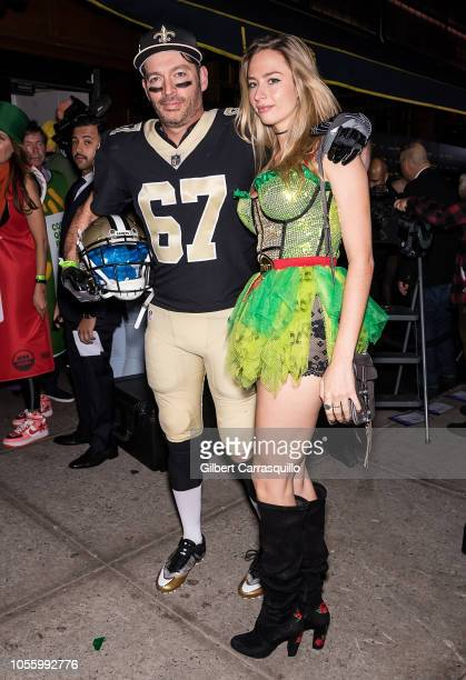 Harry Connick Jr and daughter Georgia Tatum Connick are seen arriving to Heidi Klum's 19th Annual Halloween Party at Lavo NYC on October 31 2018 in...