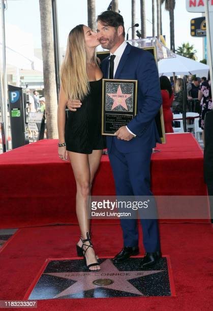 Harry Connick Jr and daughter Georgia Tatum Connick attend as Connick is honored with a Star on the Hollywood Walk of Fame on October 24 2019 in...