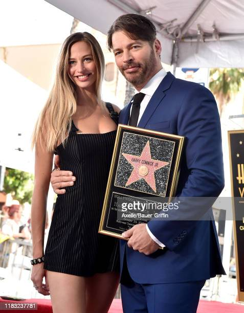 Harry Connick Jr and daughter Georgia Tatum Connick attend the ceremony honoring Harry Connick Jr with star on the Hollywood Walk of Fame on October...