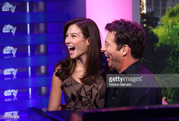 Harry Connick Jr and daughter Kate Connick perform a song for New Orleans at CBS Early Show Studio Plaza on August 13 2011 in New York City