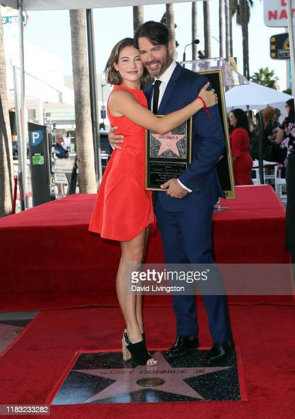 Harry Connick Jr and daughter Sarah Kate Connick attend as Connick is honored with a Star on the Hollywood Walk of Fame on October 24 2019 in...