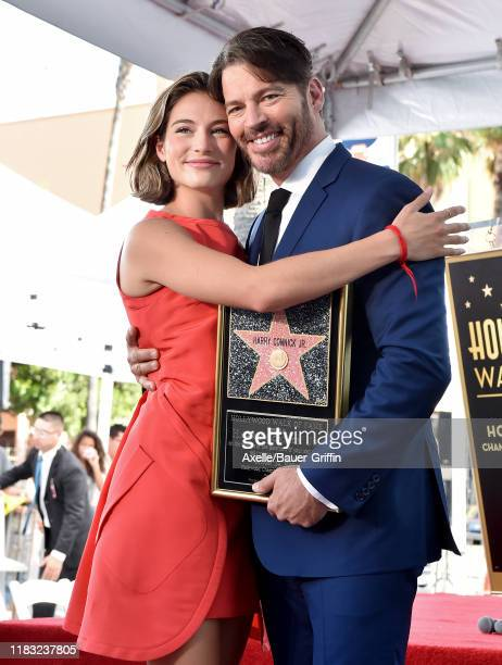 Harry Connick Jr and daughter Sarah Kate Connick attend the ceremony honoring Harry Connick Jr with star on the Hollywood Walk of Fame on October 24...