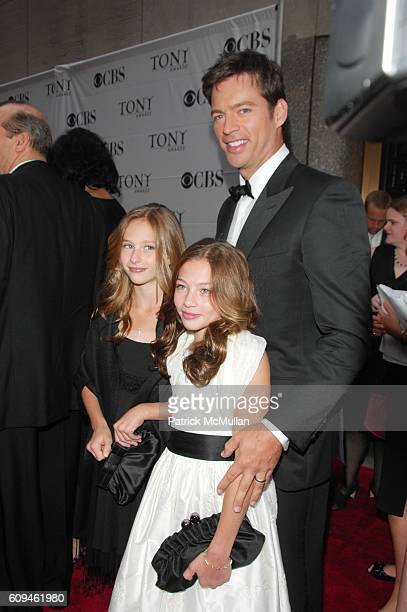 Harry Connick Jr and daughters attends 60th annual TONY AWARDS red carpet arrivals at Radio City Music Hall NYC on June 10 2007 in New York City